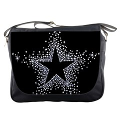Sparkling Bling Star Cluster Messenger Bag