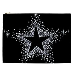 Sparkling Bling Star Cluster Cosmetic Bag (xxl)