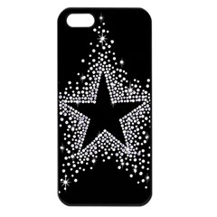 Sparkling Bling Star Cluster Apple Iphone 5 Seamless Case (black)