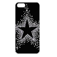Sparkling Bling Star Cluster Apple iPhone 5 Seamless Case (White)