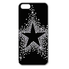 Sparkling Bling Star Cluster Apple Seamless Iphone 5 Case (clear)