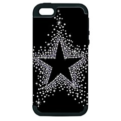 Sparkling Bling Star Cluster Apple iPhone 5 Hardshell Case (PC+Silicone)