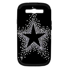Sparkling Bling Star Cluster Samsung Galaxy S III Hardshell Case (PC+Silicone)