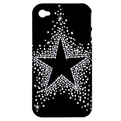 Sparkling Bling Star Cluster Apple iPhone 4/4S Hardshell Case (PC+Silicone)