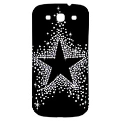 Sparkling Bling Star Cluster Samsung Galaxy S3 S III Classic Hardshell Back Case
