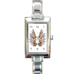 Brown Feather Wing Classic Elegant Ladies Watch (rectangle)