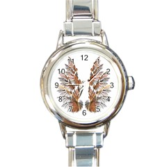 Brown Feather wing Classic Elegant Ladies Watch (Round)