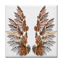 Brown Feather wing Ceramic Tile