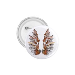 Brown Feather wing Small Button (Round)