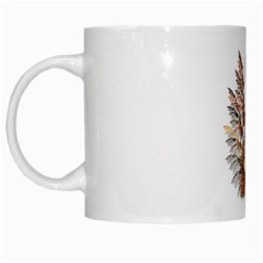 Brown Feather wing White Coffee Mug