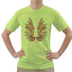 Brown Feather wing Green Mens  T-shirt
