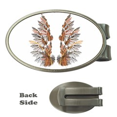 Brown Feather wing Money Clip (Oval)
