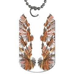 Brown Feather wing Single-sided Dog Tag
