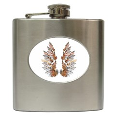 Brown Feather wing Hip Flask