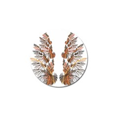 Brown Feather wing Golf Ball Marker