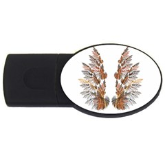 Brown Feather wing 2Gb USB Flash Drive (Oval)