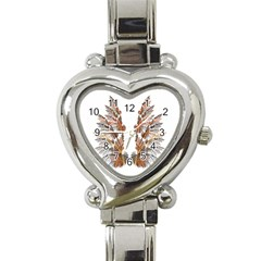 Brown Feather wing Classic Elegant Ladies Watch (Heart)