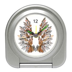 Brown Feather wing Desk Alarm Clock