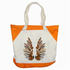 Brown Feather wing Snap Tote Bag