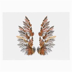 Brown Feather wing Single-sided Handkerchief