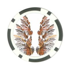 Brown Feather wing Poker Chip