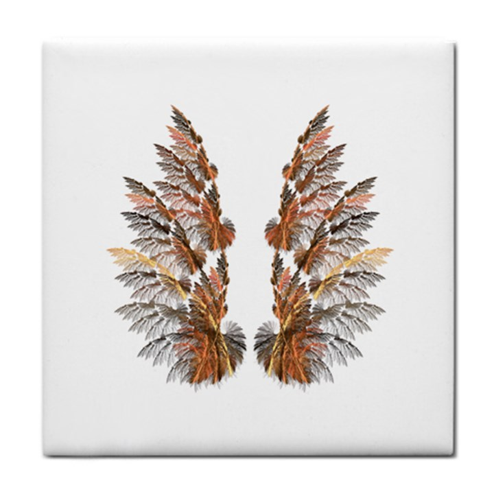 Brown Feather wing Face Towel
