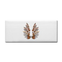 Brown Feather wing Hand Towel