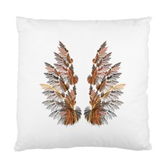 Brown Feather Wing Twin Sided Cushion Case