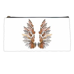 Brown Feather Wing Pencil Case