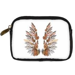 Brown Feather wing Compact Camera Case
