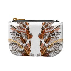 Brown Feather Wing Coin Change Purse