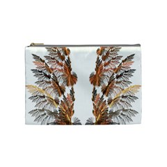 Brown Feather Wing Medium Makeup Purse