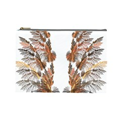 Brown Feather wing Large Makeup Purse