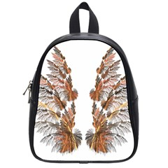 Brown Feather wing Small School Backpack