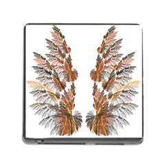 Brown Feather wing Card Reader with Storage (Square)