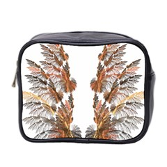 Brown Feather Wing Twin Sided Cosmetic Case