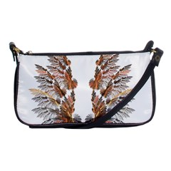 Brown Feather Wing Evening Bag