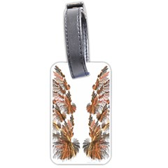Brown Feather wing Twin-sided Luggage Tag