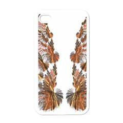 Brown Feather Wing White Apple Iphone 4 Case
