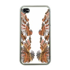 Brown Feather wing Apple iPhone 4 Case (Clear)