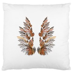 Brown Feather wing Large Cushion Case (One Side)
