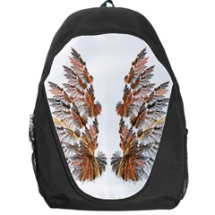 Brown Feather wing Backpack Bag