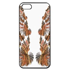 Brown Feather wing Apple iPhone 5 Seamless Case (Black)
