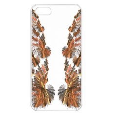 Brown Feather Wing Apple Iphone 5 Seamless Case (white)