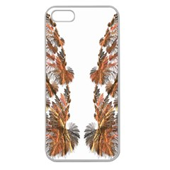 Brown Feather wing Apple Seamless iPhone 5 Case (Clear)