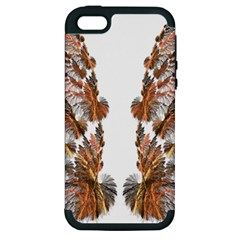Brown Feather wing Apple iPhone 5 Hardshell Case (PC+Silicone)