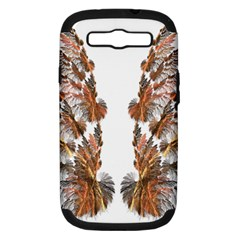 Brown Feather wing Samsung Galaxy S III Hardshell Case (PC+Silicone)