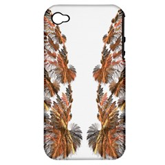 Brown Feather Wing Apple Iphone 4/4s Hardshell Case (pc+silicone)