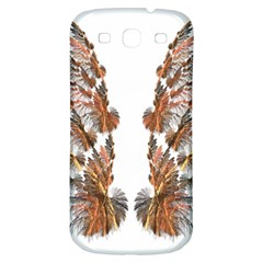 Brown Feather wing Samsung Galaxy S3 S III Classic Hardshell Back Case