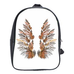 Brown Feather wing School Bag (XL)